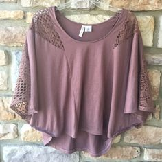 Brown flowy shirt Brown lace shirt, perfect condition! Size large PacSun Tops Blouses