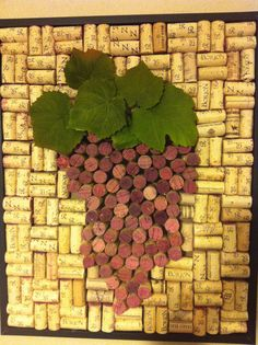 Grape out of wine corks