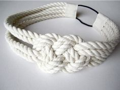 Sailor knot headband nautical cotton rope by MarchandLilly1, $12.00