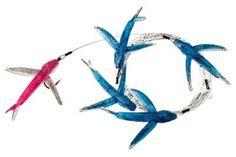 Carolina Lures Mini Yummie Flyer Daisy Chain - Blue Pink