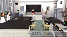 High School by My Homeless Sims The Sims 4 Lots, Conference Room, High School, Home Decor, Decoration Home, Room Decor, Grammar School, Meeting Rooms, Middle School