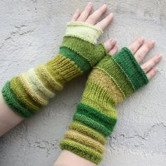 Tadpole - Unmatched warm and fuzzy hand knit wrist warmers fingerless mittens in wool and mohair