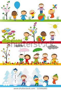 Art Drawings For Kids, Drawing For Kids, Art For Kids, Toddler Crafts, Preschool Activities, Preschool Printables, Weather For Kids, Stick Figure Drawing, Seasons Activities