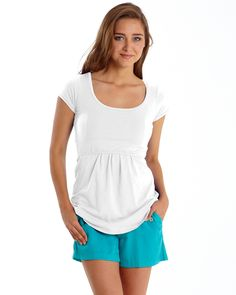 Must Have U-Neck Short Sleeve Tee - White