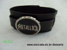 Bracelete Metallica  www.mercado.etc.br/dixiearte