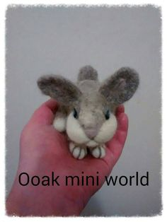 Check out this item in my Etsy shop https://www.etsy.com/listing/228079135/ooak-needle-felted-fiber-art-bunny