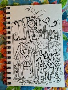 More sharpie art ((; Doodle Lettering, Creative Lettering, Typography, Doodle Drawings, Doodle Art, Flower Drawings, Zen Doodle, Smash Book, Ouvrages D'art