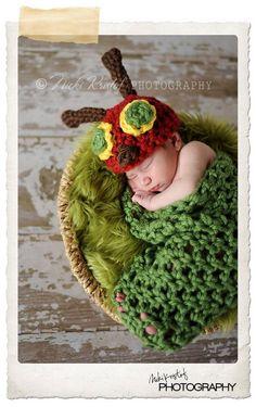 Hungry Caterpillar Set Newborn Halloween by TreasuredCreation. $39.99, via Etsy.