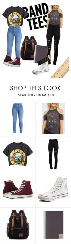 """Back to school 😭😭"" by izzimikayla ❤ liked on Polyvore featuring Free People, Yves Saint Laurent and Converse"