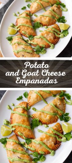 Potato, corn, and goat cheese empanadas- what could be better? Eating them with this avocado chimichurri.
