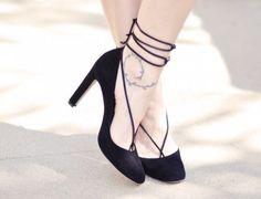 """Crea tu propia ropa de moda DIY - Poner correa o cuerda a tus zapatos.  """"Lace up"""""""