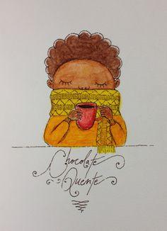 Ilustração. Chocolate quente!