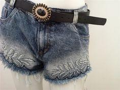 jeans branco bordado - Pesquisa Google