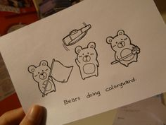 Oh my goodness, these are so CUTE! I want THIS on a shirt! Just the bears :)