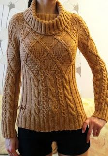 Свитер с аранами из Phildar. Обсуждение на LiveInternet - Российский Сервис ОнРCable Knitting, Sweater Knitting Patterns, Knitting Designs, Knit Patterns, Hand Knitting, Pullover Mode, Sweater Fashion, Crochet Clothes, Knitwear