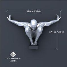 PDF à transformer en sculpture murale - Le papercraft 3D Human Sculpture, Lion Sculpture, Transformers, Human Art, Human Human, Antony Gormley, Impression 3d, Hand Sketch, Metal Art