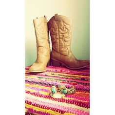 Cowgirl Boots. WEST BLVD Reddish brown cow girl boots. Wore once for wedding. Will not wear again Shoes Heeled Boots