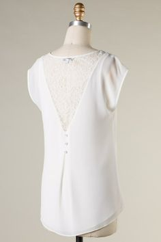 I want this Lace Maggie Top in White or blue.  Check it out at Emma Stine.