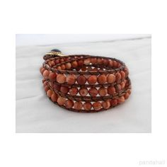 Handmade Leather Bracelet with Wood Beads | PandaHall Beads Jewelry Blog