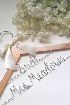 Custom two-tier bridal wedding hanger