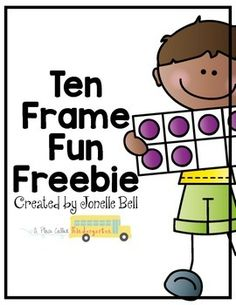 """Ten Frame Fun FreebieA great way to develop number sense in Kindergarten is using ten frames.  A ten frame is a simple tool that allows your students to """"see"""" ten and develop a visual image of numbers. My Kindergarteners love ten frames!This freebie includes Ten Frame Memory, Match the Ten Frame and Fill the Ten Frame.If you like this math activity,check out all of my math activitiesIt's All About the ShapesPicture Perfect MathFacts To and From FiveMath Unit BundleToss Tell Take…"""