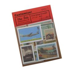 18 Pcs/lot, Midori Travelers Notebook 5 Vintage Travel Stamps Stickers 4 Design Sheets Diy Multifunction