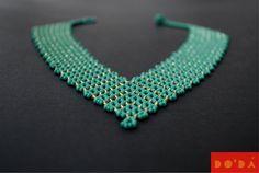 Indigenous Necklace / aquamarine  gold and por DODAStore en Etsy