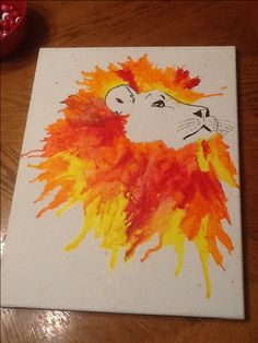 melted crayon art.lion king by iLIVEforART on Etsy, $85.00 diy craft art
