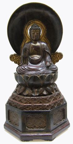 19th century Japanese Amida Buddha