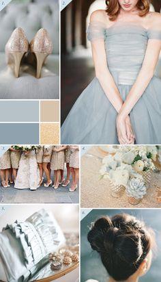 An elegant powder blue & gold wedding | inspiration board on Best Day Ever