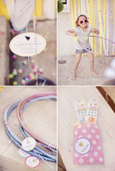 Hula Hoop Birthday Party {Confetti & Polka Dots} @HWTM