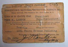 Thor Larson ID Card And Badge, 1945