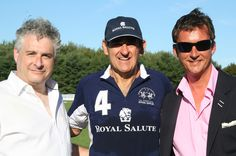 At the last polo game of the season with Peter Brant and Duke Torquhil Campbell. Good men, great game! Thank you, both! :-)