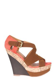 These are kinda cute   dELiAs > Fiona Wedge > shoes > wedges