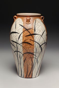 Large floor vase. Salt fired. Kyle Carpenter. 2012