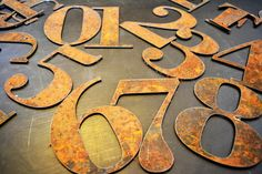 Numbers 4 Rustic 6 by heavymetals123 on Etsy