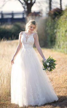 c018a9cbfd D2580 Boho Wedding Dress with Halter Neckline by Essense of Australia Dress  Out