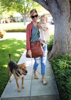 The Rosie bag from Lily Jade is stunning--with an amazing, classic shape and made with premium full grain leather. Insider secret: It's also a diaper bag--with over 16 (!!) pockets to keep all your baby gear perfectly organized!!