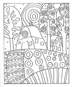Additional Images of Fanciful Folk Art Coloring Book by Karla Gerard - ConnectingThreads.com