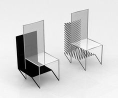 """The """"Purposefulness of Shadow"""" Chair by ClarkeHopkinsClarke Architects: The Chair with 3D Shadow"""