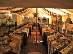 A safari banquet - fit for a King.