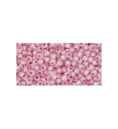 TR-11-PF2105 Permanent Finish - Silver-Lined Milky Baby Pink ТОХО Бисер Round seed beads TOHO of the size 11/0 are usually used in the handmade production jewelry for women and as also other handwork.