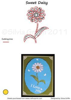 Sweet Daisy IF on Craftsuprint designed by Silvia Griffin - Flowers are always good for any occasion. So this sweet daisy should be a good bargain since it will be used often. - Now available for download!