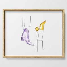 Watercolor Shoes Serving Tray by martadehojas Tray, Watercolor, Shop, Stuff To Buy, Home Decor, Pen And Wash, Watercolor Painting, Watercolour, Trays