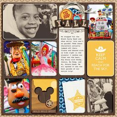 """Disney Parade with Toy Story Woody digital Project Life page by TiffanyTillman featuring """"Project Mouse: Frontier"""" by Britt-ish Designs and ..."""