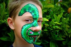 Snake Face Painting Design