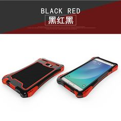 R-JUST Amira Aluminum Metal Bumper TPU Inner Layer Carbon Fiber Back Cover Shockproof Dustproof Protective Case for Samsung Galaxy Note 5 N9200
