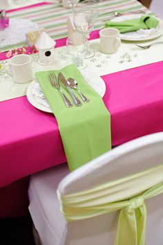 Photo by Purrington Photography, decorations by Panache. #wedding #pinkandgreen