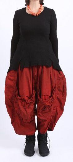 barbara speer - Ballonhose Cotton mit vielen Taschen red - Winter 2016