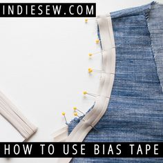 Avoid wonky, wavy armholes! Learn how to sew with bias tape (a.k.a. bias binding) to finish armholes and necklines for a professional, crisp look.